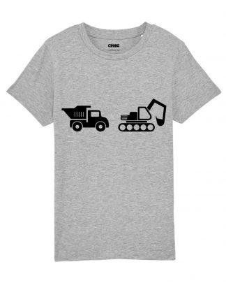 Biologisch Kinder T-shirt Bouwvoertuigen