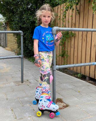 100% Organic Kid T-shirt Rollerskate