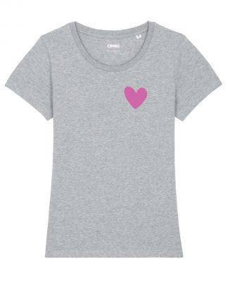 Biologisc Dames T-shirt met Hart opdruk
