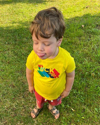 100% Organic Kids T-shirt Young Buck