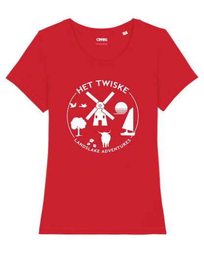 Biologisc Dames T-shirt met Twiske opdruk