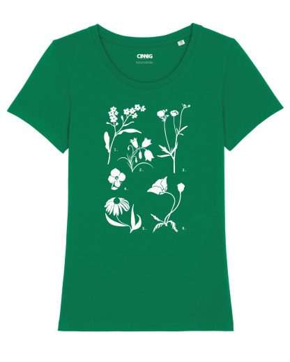 100% Biologisch T-shirt wildbloemen opdruk