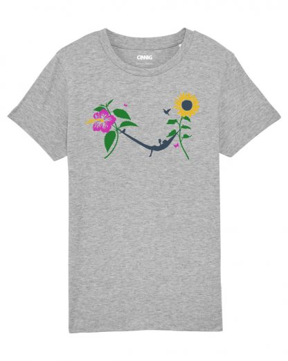 Grey Kids T-shirt Sunflower Hammock