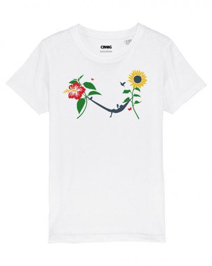 White Kids T-shirt Sunflower Hammock