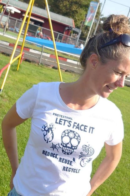 Women T-shirt Protestival Reduce Reuse Recycle
