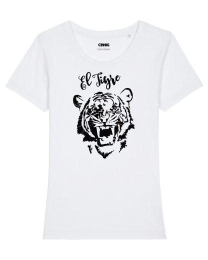 100% Biologisch T-shirt met Tijger opdruk El Tigre