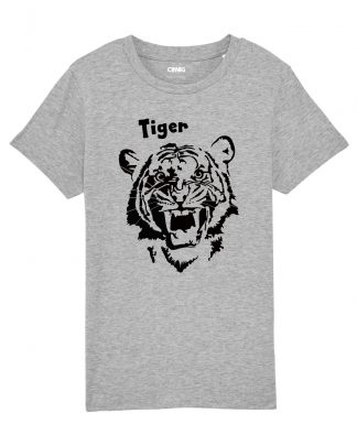 100% Organic Kids T-shirt with Tiger graphic