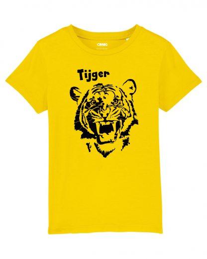 100% Biologisch Kinder T-shirt met Tijger opdruk