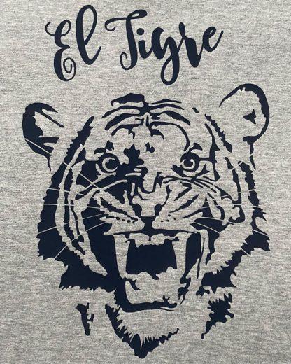 Biologisch T-shirt Tijger opdruk