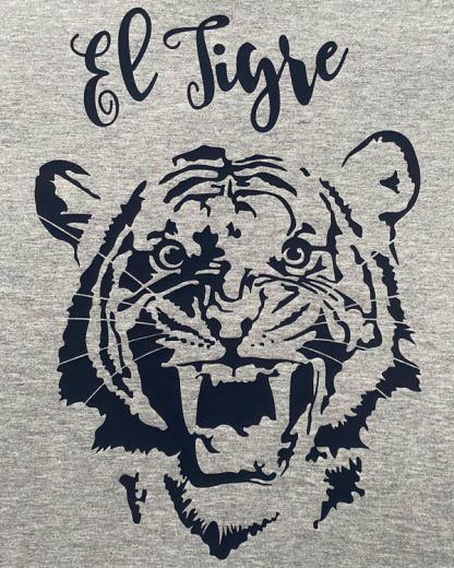 100% Organic T-shirt with Tiger graphic El Tigre