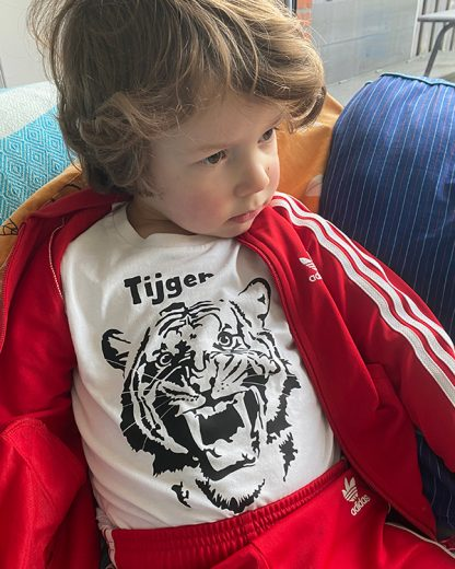 Organic T-shirt Kid Tiger graphic print