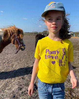 Organic Kids T-shirt Pony Love